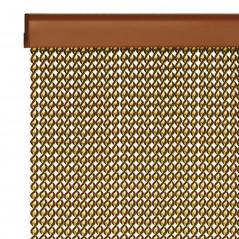 Cortina fabricada a medida con cordones de PVD plástico