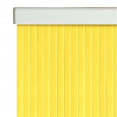 Detalle cortina para exteriores con cintas de PVC