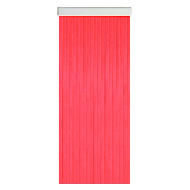 Cortina antimoscas de exterior efecto cristal de cintas estriadas