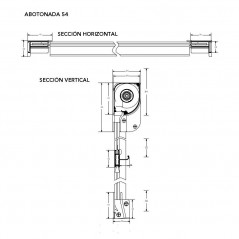 Mosquitera Enrollable boton cabezal de 54mm   Técnicos