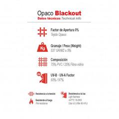 Datos técnicos estores enrollables Blackout   Anacor