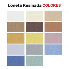 Tejidos colores traslúcidos colores loneta resinada | Anacor