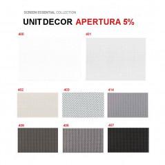 Colores lamas verticales screen Unit Decor apretura 5% | Anacor