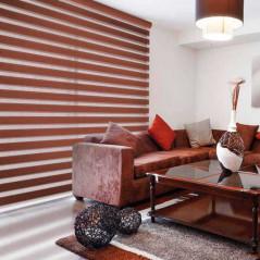 Estor día y noche fabricado a medida tejidos imitación madera | Anacor