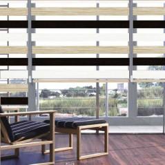 Estor día y noche fabricado a medida con doble tejido a color  | Anacor