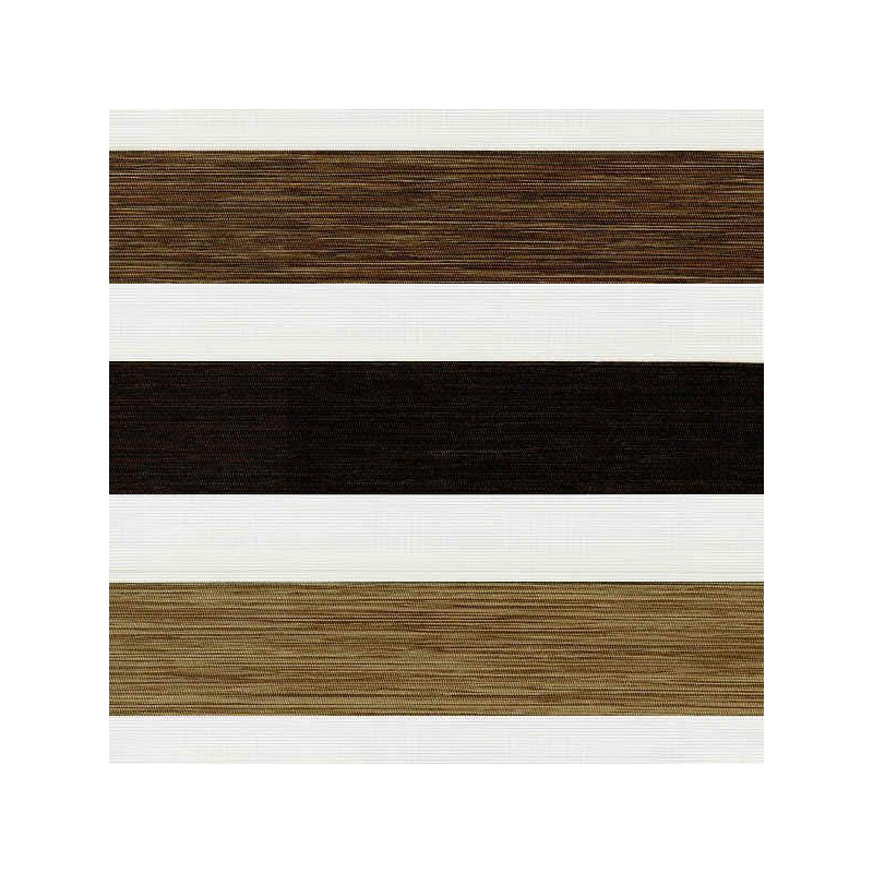 Estor noche y día con franjas en madera tres colores | Anacor